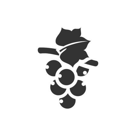 grape fruit: Grape icon in single color. Fruit berry dessert sweet organic