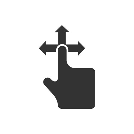 touchpad: Finger gesture icon in single grey color. Gadget touch pad display smartphone laptop computer Illustration