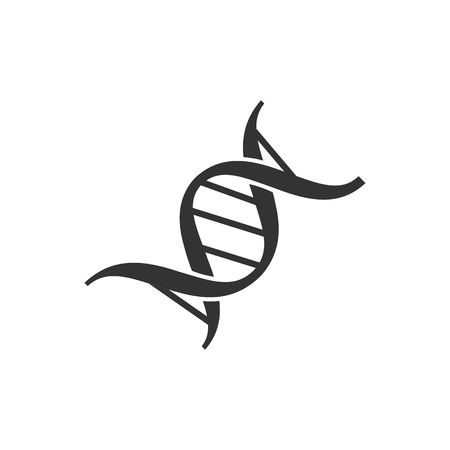 DNA Strand icon in single grey color. Genetic science laboratory Illustration