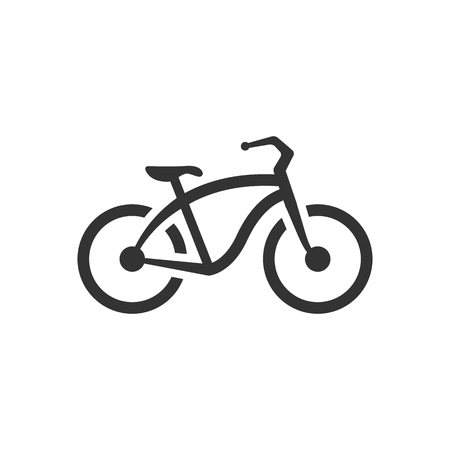 city: Low rider bicycle icon in single color. Sport transportation park city urban vintage retro
