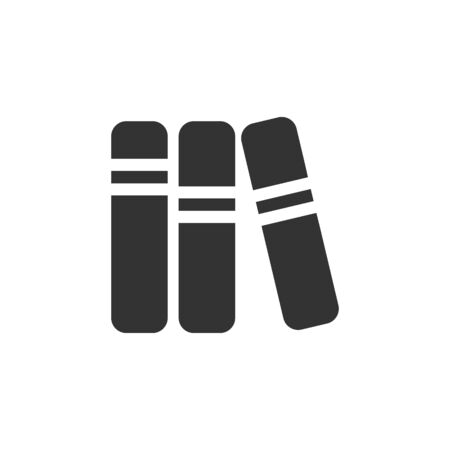 student with books: Books icon in single grey color. Education student college research library Illustration