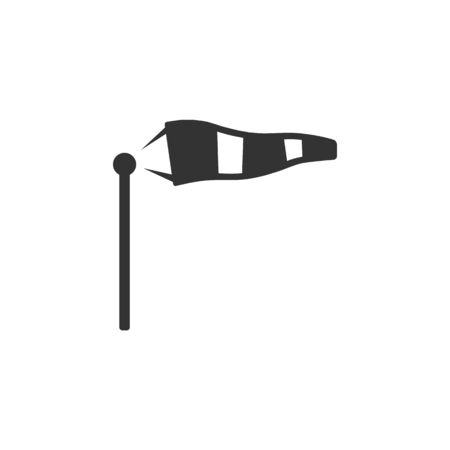 windsock: Windsock icon in single color. Air wind direction indicate aviation instrument