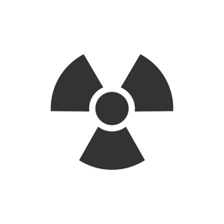 gamma radiation: Radioactive symbol icon in single color. Science researcg energy nuclear waste Illustration