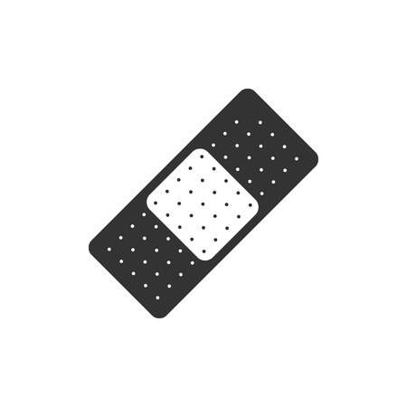 medical symbol: Bandage icon in single grey color. Healthcare medical first aid