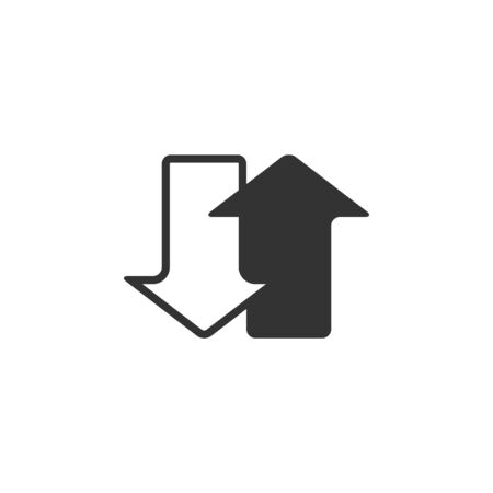 rebuild: Arrows icon in single grey color. Communication data traffic exchange