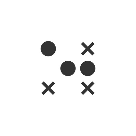 Strategy game icon in single color. Playing planning mental tactic steps