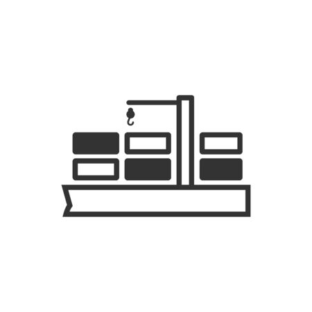 warehouse: Container shipping  icon in single color. Industrial business heavy industry distribution import export