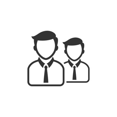 Businessman icon in single grey color. Business office finance