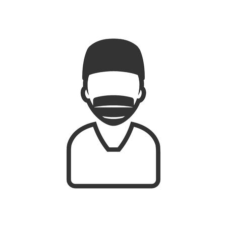 chirurgo: icona del Chirurgo in colore grigio singolo. ambulatorio medico operazione medico di plastica