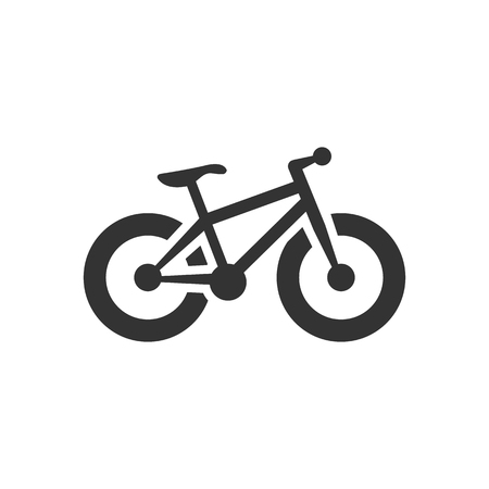 extreme terrain: Fat tyre bicycle icon in single color. Sport transportation explore distance endurance extreme terrain