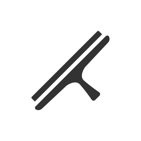 scraper: Glass scraper icon in single color. Household industrial cleaner office Illustration
