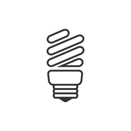 ligh: Lightbulb icon in single grey color. Idea inspiration electricity ligh Illustration