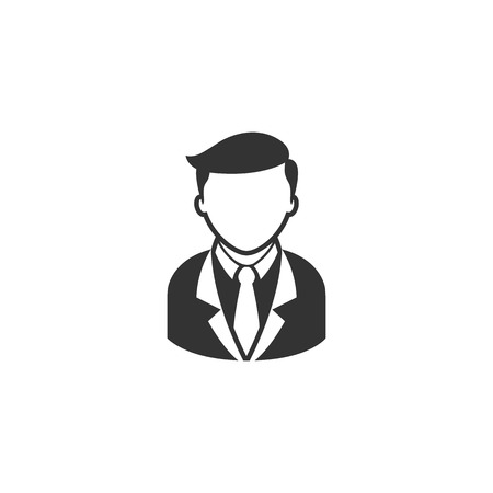 trainee: Businessman icon in single grey color. Business office finance
