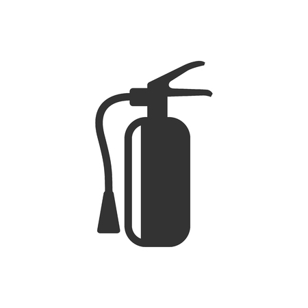 Fire extinguisher icon in single color. Office equipment building