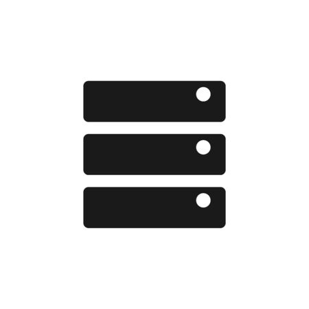 hard: Database  icon in single grey color. Hardisk, file server Illustration