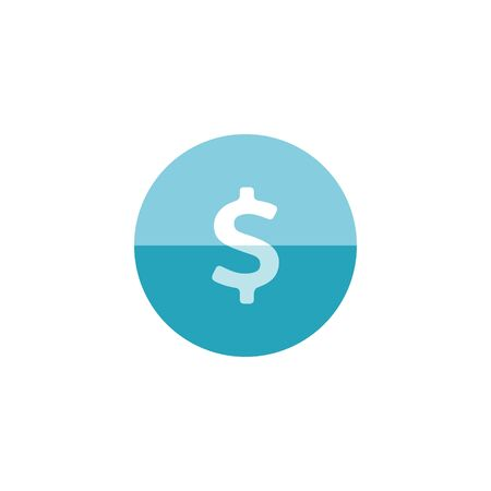dollar sign icon: Dollar sign icon in flat color circle style. USD, America