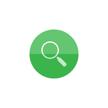 Magnifier icon in flat color circle style. Zoom explore find locate