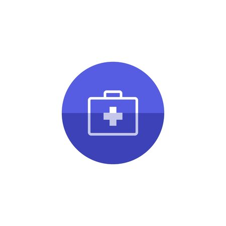 medical case: Medical case icon in flat color circle style. Health care equipment storage