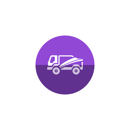 truck driver: Rally truck icon in flat color circle style. Sport extreme race desert competition championship Illustration