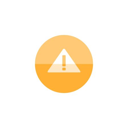 Warning sign icon in flat color circle style. Beware notice triangle safety security