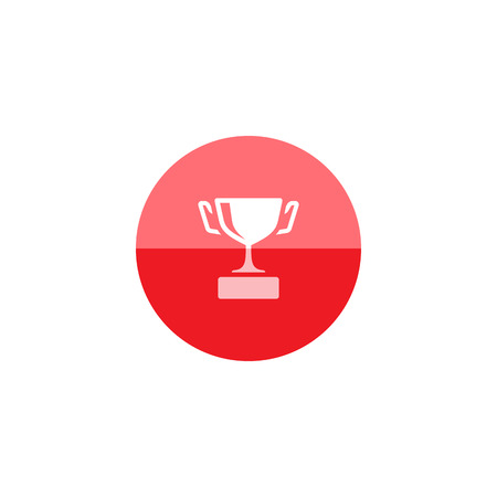 prize winner: Baseball trophy icon in flat color circle style. Sport champion winner team prize