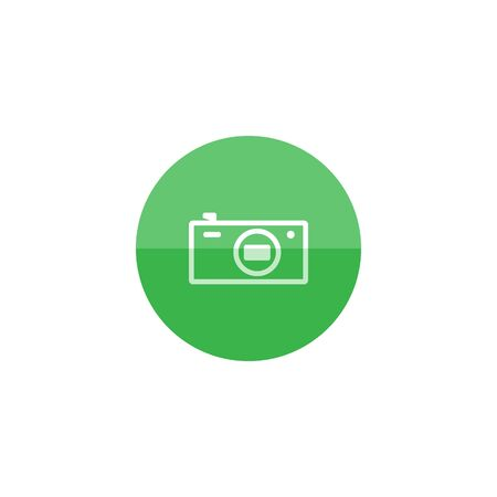 electronic: Camera icon in flat color circle style. Photography picture electronic imaging pocket compact affordable cheap