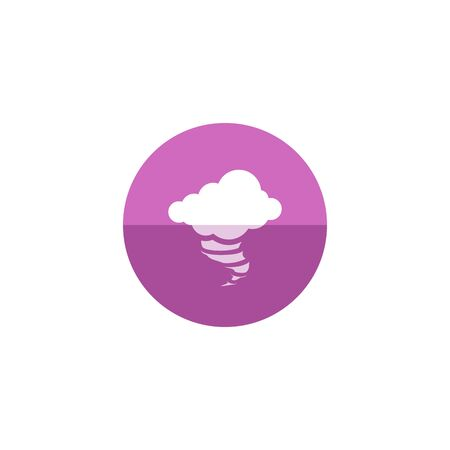 tornado wind: Storm icon in flat color circle style. Disaster tornado nature wind weather power Illustration