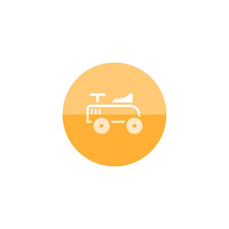 eclectic: Toy car icon in flat color circle style. Kids children playing driver