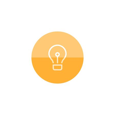 lamp light: Light bulb icon in flat color circle style. Idea inspiration electricity light