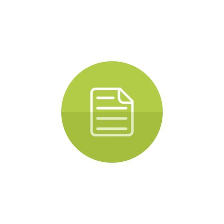office presentation: Text file format icon in flat color circle style. Office report presentation words report