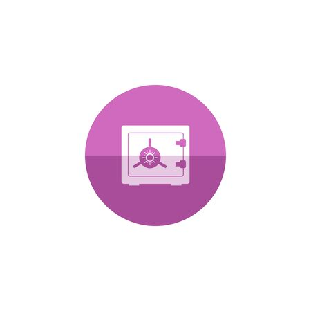 secure: Safe box icon in flat color circle style. Bank, money, wealth, store
