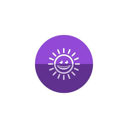 sky: Weather forecast sunny icon in flat color circle style.