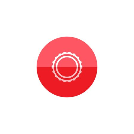 Hot item label icon in flat color circle style. Shopping discount rebate commercial marketing sale Illustration