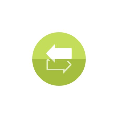 arrow icon: Arrows icon in flat color circle style. Communication data traffic exchange Illustration