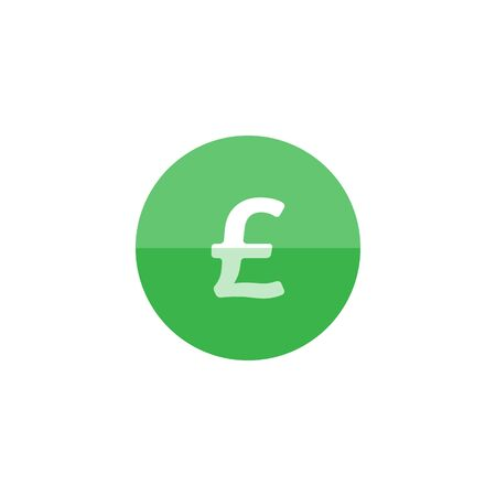 cash money: Pound sterling symbol icon in flat color circle style. UK currency, British, Europe Illustration