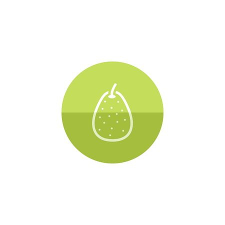 diet food: Pear icon in flat color circle style. Food fruit vitamin healthy diet Illustration