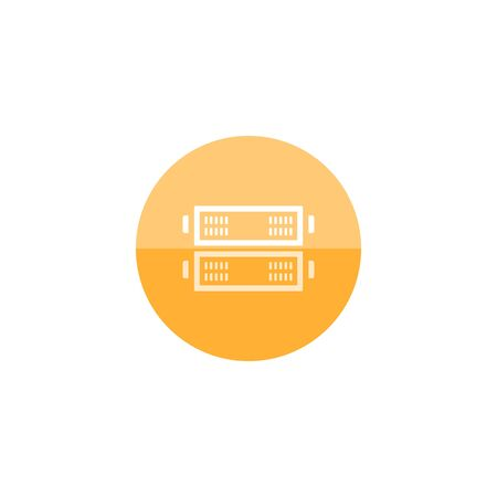 server rack: Server rack icon in flat color circle style. Computer data file center hosting cloud transfer Illustration