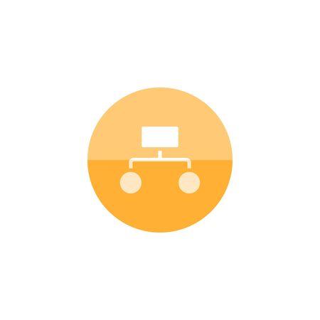 jerarquia: icono de la jerarquía en el estilo del círculo de color plano. Trabajos de oficina estructura del equipo de trabajo de los empleados