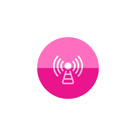 electronic: Podcast icon in flat color circle style. Broadcast