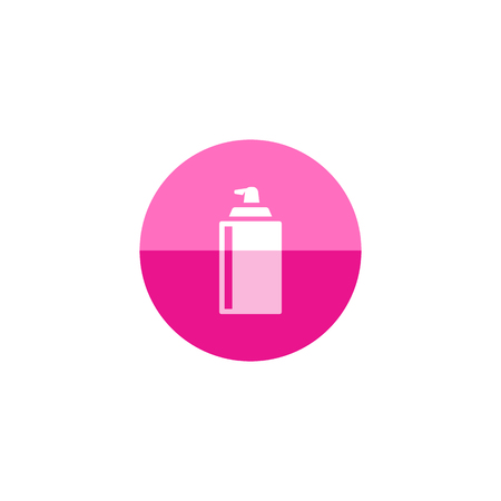 Liquid spray icon in flat color circle style. Paint disinfectant lubricant degrease water