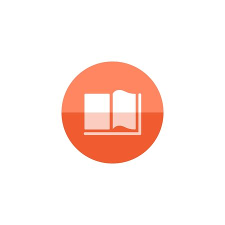 student with books: Books icon in flat color circle style. Education student college research library
