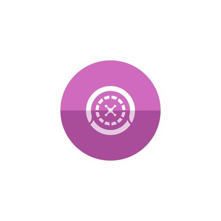 roulette table: Roulette table icon in flat color circle style. Game gambling chance opportunity jackpot