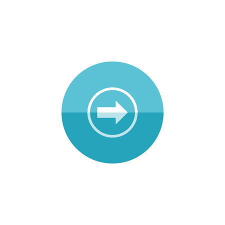 flecha direccion: Arrow icon in flat color circle style. Direction move forward shopping checkout