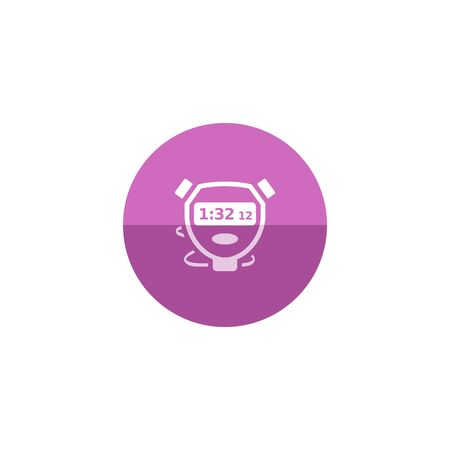 competitions: Stopwatch icon in flat color circle style. Speed, time, deadline Illustration