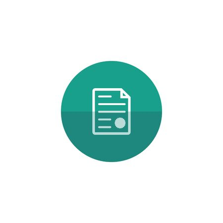 signing papers: Contract document icon in flat color circle style. Agreement arrangement property mortgage loan money Illustration