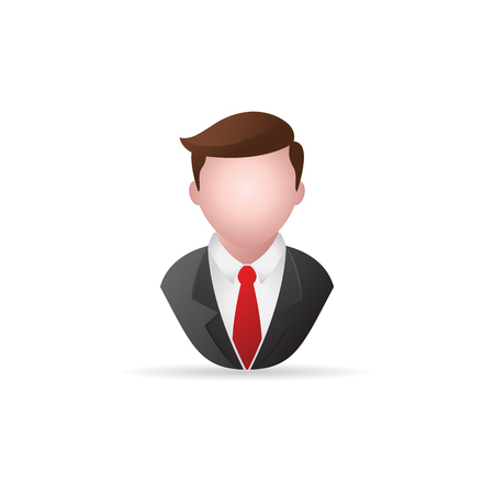 trainee: Businessman icon in color. Business office finance
