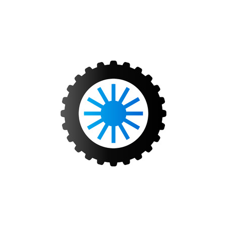 traction: Motorcycle tire icon in duo tone color. Motorcycle motorbike wheel