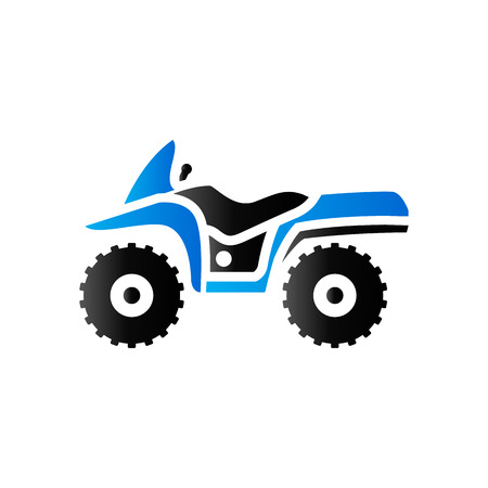 race winner: All terrain vehicle icon in duo tone color. Rally offroad outdoor
