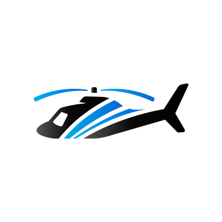chopper: Helicopter icon in duo tone color. Transportation air aviation