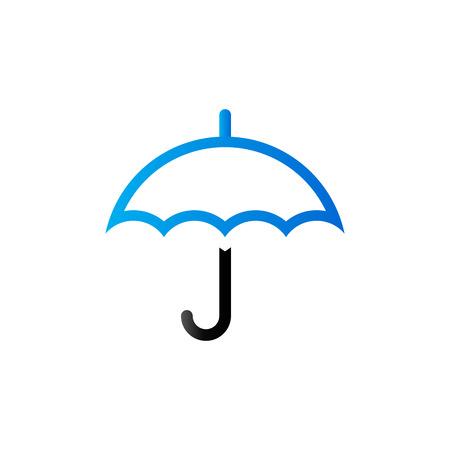 Umbrella icon in duo tone color. Valentine love present